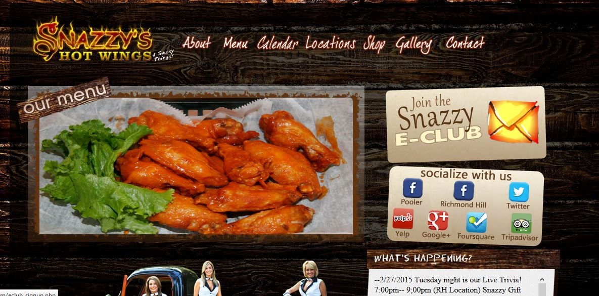 Snazzy's Hot Wings and Sassy Things