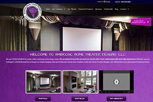 Ambrosic Home Theater Designs